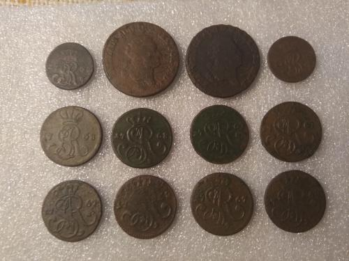 Монеты Понятовского 12 шт
