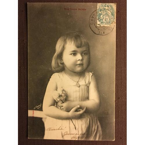 "Фотооткрытка ""Ребенок"", Париж, 1904 г."