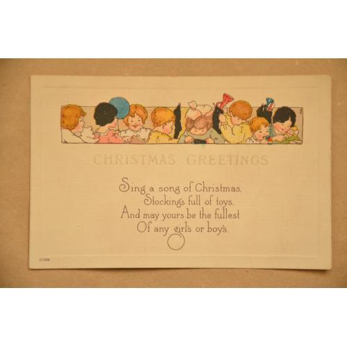 """Рождественская американская открытка """"Дети"""""""