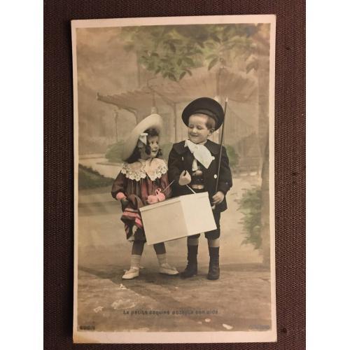 """Фотооткрытка """"Маленькая кокетка нуждается в помощи"""", дети."""