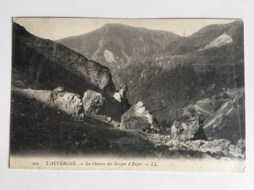Oткрытка. L'Auvergne