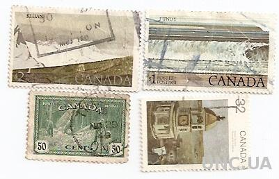 Марки 4 штуки Канада Canada гаш 592 50 центов Ратуша