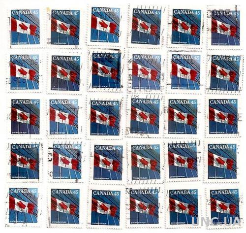 Марки Канада Canada гаш №646 Флаг Канады 30 штук