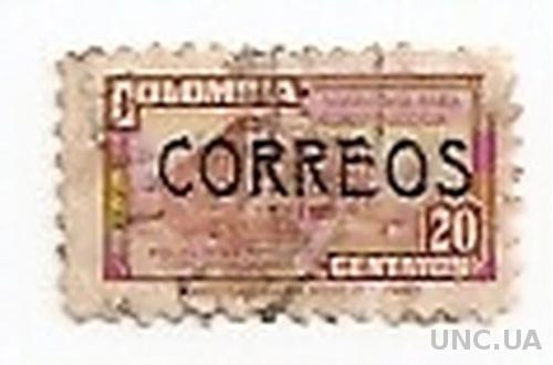 Марка Колумбія Colombia гаш №565