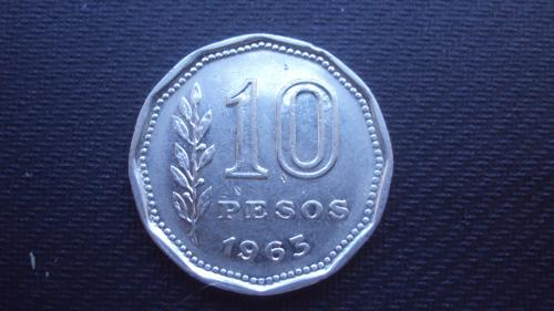 Аргентина 10 песо.1963г.