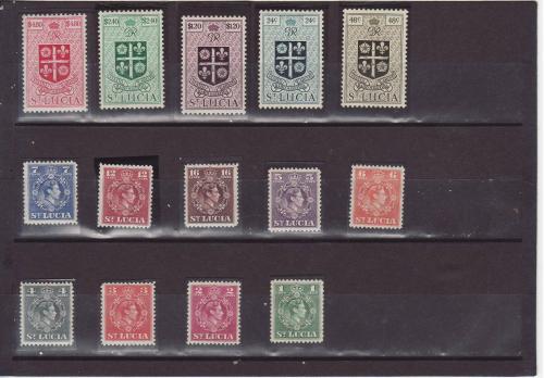 Марки Сент-Люсия №120-133