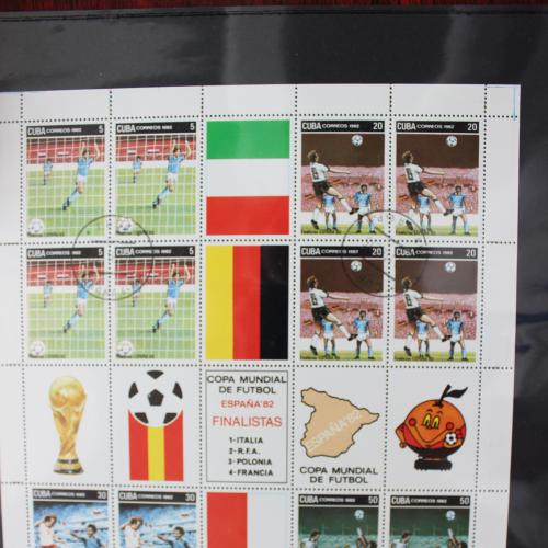 Куба  1982г. Футбол.