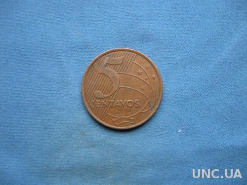 Бразилия 5 центаво 2009 год