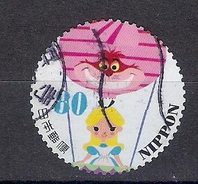 марки нестандартной формы Япония куклы комиксы мульти