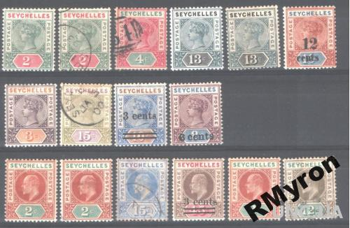 Англия. Сейшелы (1890/1903) - Подборка