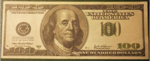 100 баксов (100 долларов) фальшивка