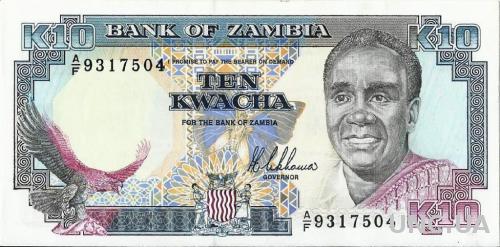Замбия, 10 квач (1989) UNC