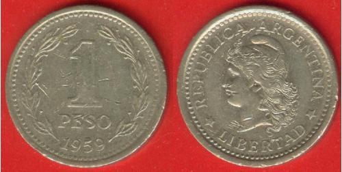 Аргентина, 1 песо, 1959 г.