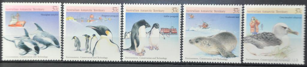 ААТ Австралийские Антарктические Территории Пингвины 1988