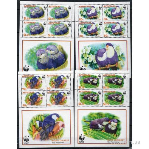 Аитутаки WWF Птицы 2002 Mi 772-775