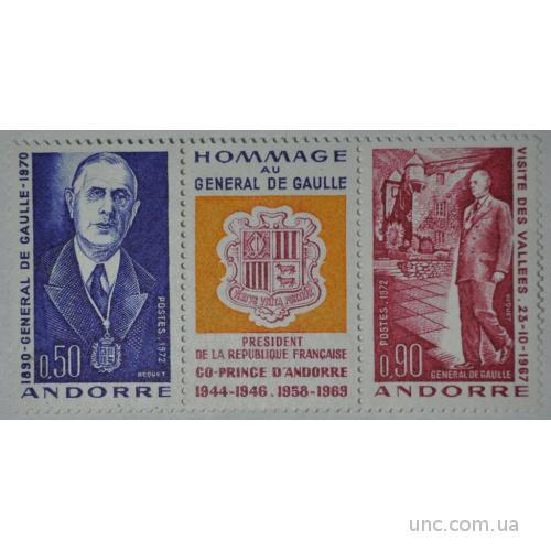 Андорра Де Голль 1972