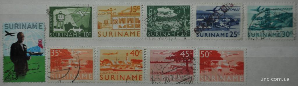 Суринам Авиация Авиапочта
