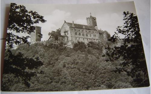 Открытка. Тюрингия. Замок. ГДР. 1971