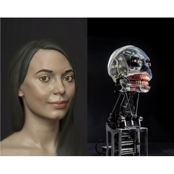 В Британии появилась робот-художница, которая рисует кисточкой