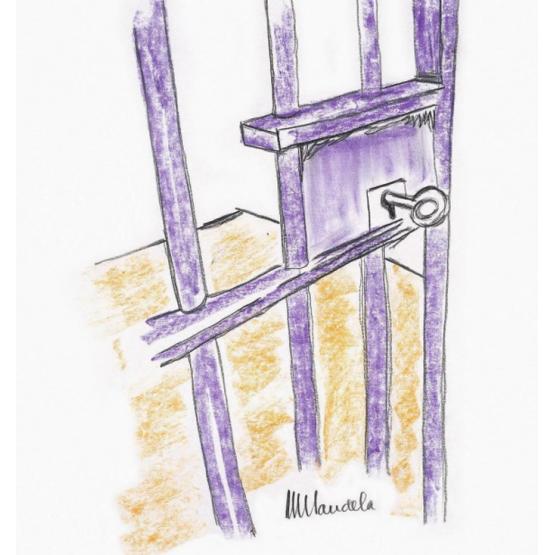 На аукцион Bonhams выставят рисунок Нельсона Манделы