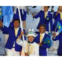 Француз выставляет на торги флаг олимпийской сборной Казахстана