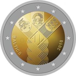 Страны Балтии утвердили оформление совместной 2-евровой монеты