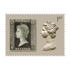 В Великобритании издали серию марок, посвященную 50-летию почтового знака с изображением Елизаветы II