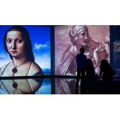 Самая большая мультимедийная выставка художников эпохи Возрождения открылась в Петербурге