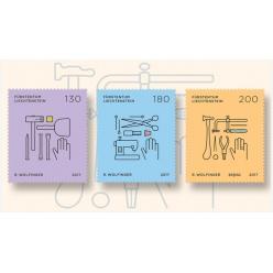 В Лихтенштейне выпустили необычную серию марок, посвященную профессиям