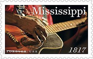 Почтовая служба США выпустила новую безноминальную марку к 200-летию штата Миссисипи