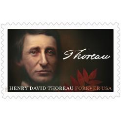 В США выпускают безноминальную почтовую марку в честь 200-летия Генри Торо