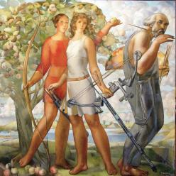 В Херсоне представлена экспозиция работ латвийского живописца Карлиса Добрайса