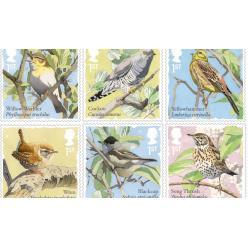 В Великобритании выпустят серию почтовых марок с певчими птицами