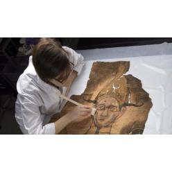 В запасниках музея обнаружен забытый саван эпохи Древнего Египта