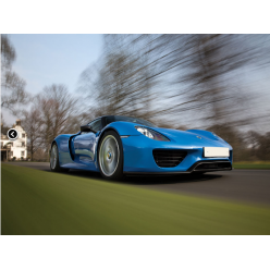 Уникальный экземпляр Porsche 918 голубого цвета выставлен на торги