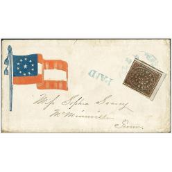 Редкий конверт эпохи Гражданской войны в США продан за 32 тысячи долларов