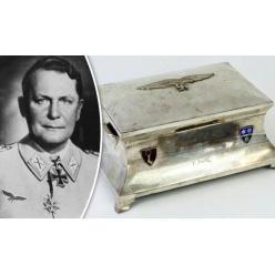 Серебряный портсигар Германа Геринга представлен на торги