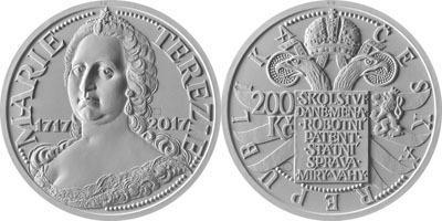 В Чехии выпустили монету, приуроченную к 300-летию императрицы Мари-Терезии