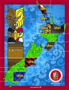 В Новой Зеландии выпустили почтовые марки в честь чемпионата по регби