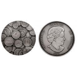 Уникальную килограммовую монету с коллекцией из 35 монет на реверсе продают в Канаде