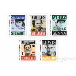 В Канаде издали почтовые марки в честь пятерых гонщиков Формулы-1