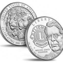 Монетный двор США выпустил монеты в честь столетия Lions Clubs International