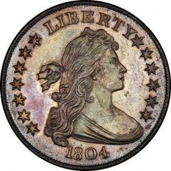 Наградной серебряный доллар 1804 года приобрели за 3,3 миллиона долларов