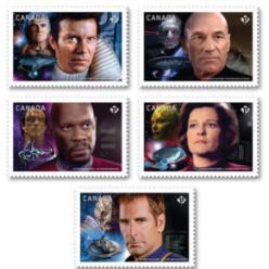 """В Канаде выпустили почтовые марки с изображением героев из """"Стар Трека"""""""