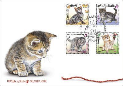 """Белпочта выпустила пополнение марок в серию """"Котята"""""""