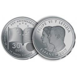 В Испании выпустят 30 евро из серебра
