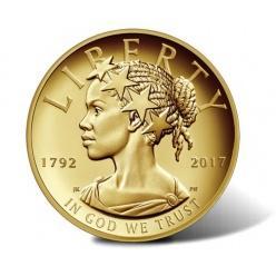США порадовали золотой «Свободой» в облике афроамериканской женщины