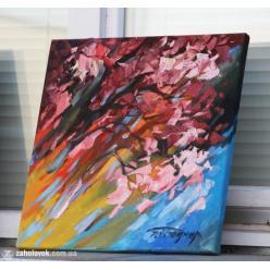 В Ужгороде началась выставка картин с сакурами