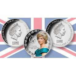 Токелау представило две коллекционные монеты в память о годовщине смерти Принцессы Дианы