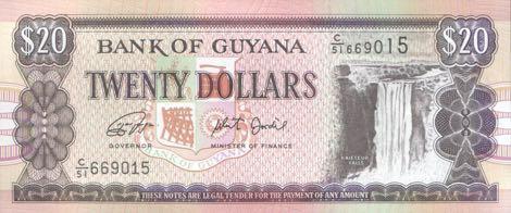 В денежном обращении Гайаны замечены обновленные банкноты